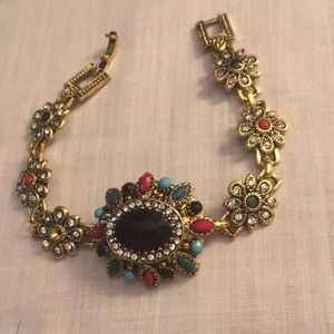 Jewelry - Bohemian Crystal Color Resin Gold Plated Bracelet